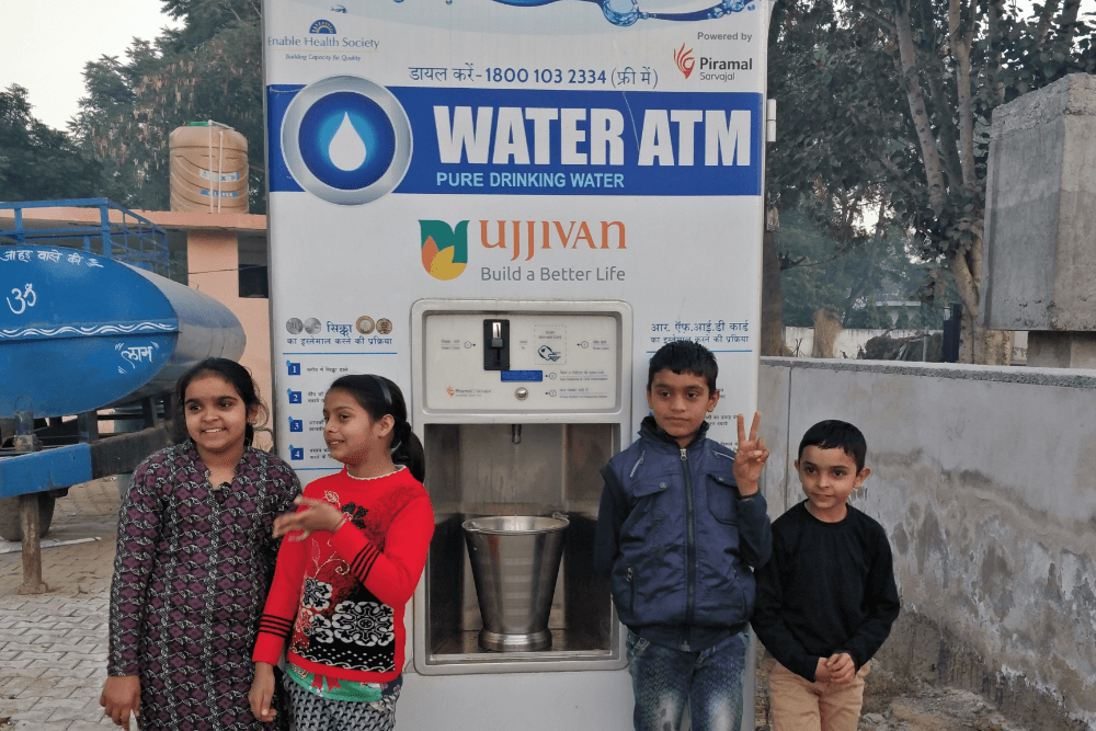 children-with-safe-drinking-water-atm